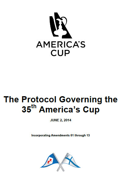Protocol for 35th Americia's Cup including Amendments 1-13