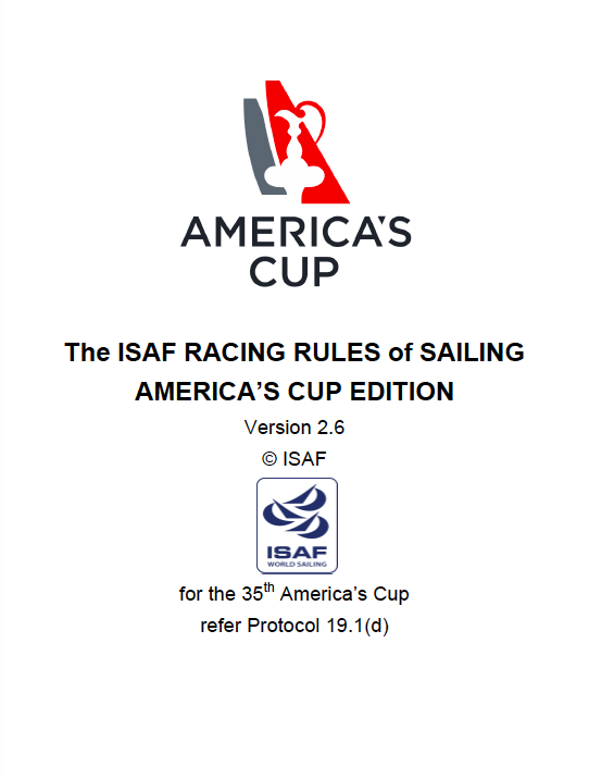 World Sailing Racing Rules of Sailing America's Cup Edition v 2.6