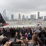 Big Enthusiastic Crowds in Spite of Gray Skies and No Wind on Saturday