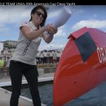 America's Cup Defender Unveils and Christens Race Boat