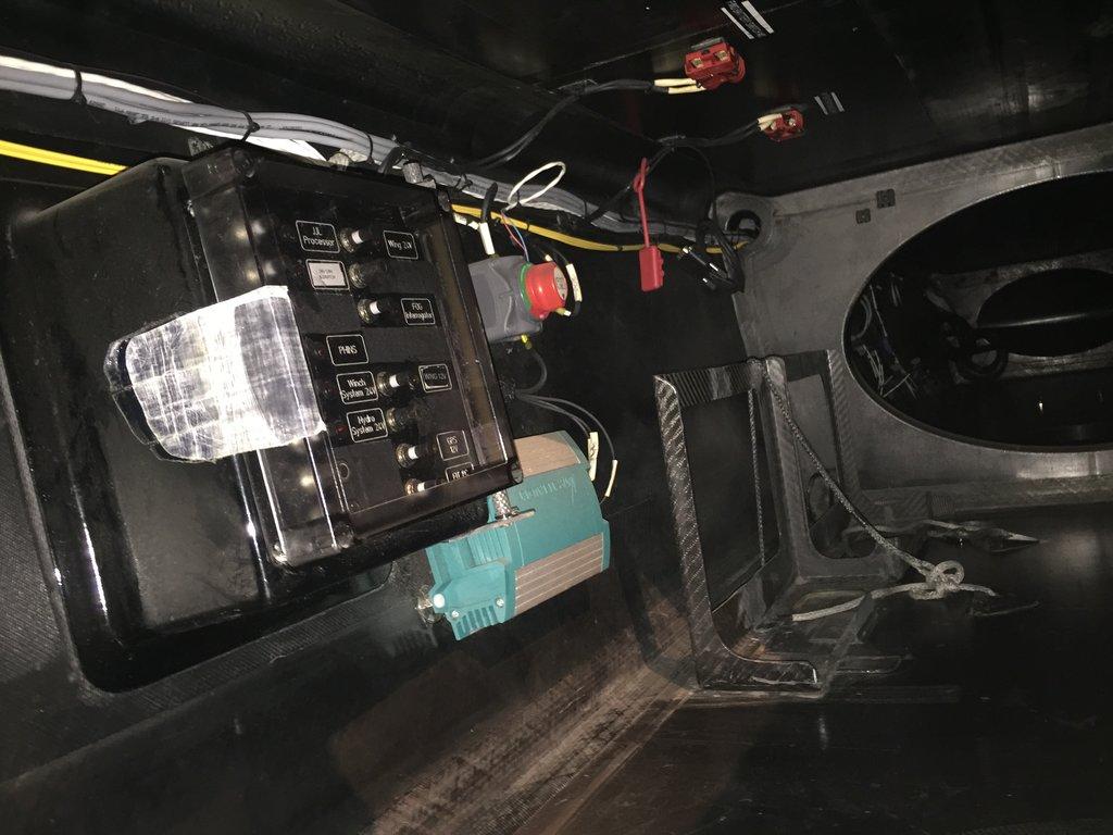 AC72 Winner America's Cup - electrical panel inside pod