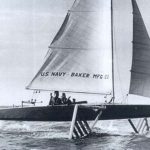"""1950's Foiling Sailboat """"Monitor"""""""