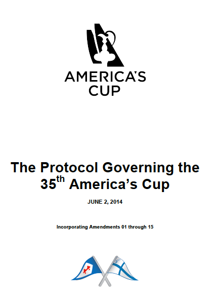 America's Cup Protocol Amendment 15