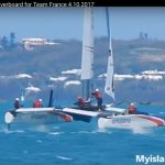 Man Overboard on Groupama Team France's America's Cup Class Yacht