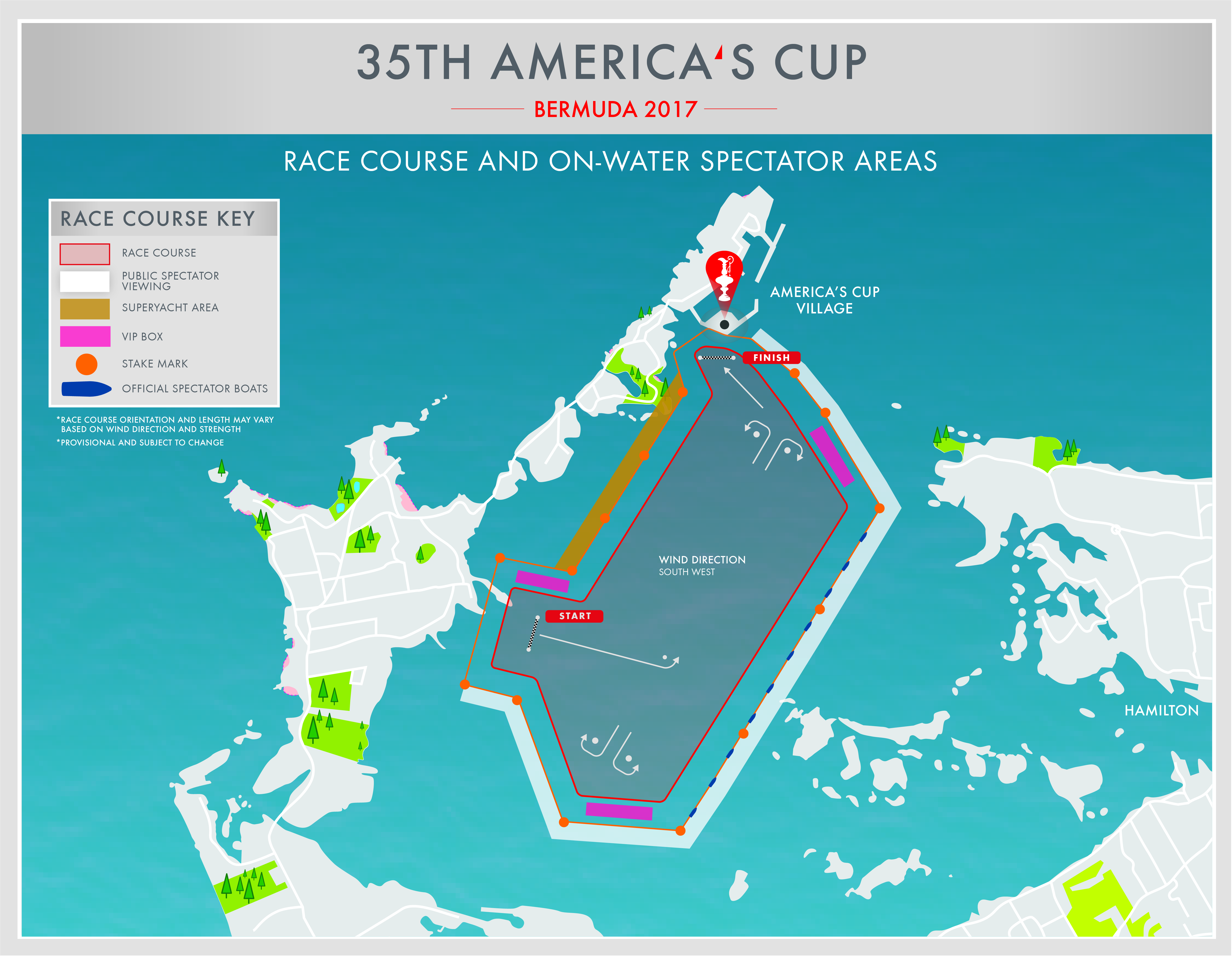 America's Cup 2017 in Bermuda - Race Course