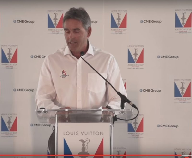 America's Cup logo conflict - clothing / backdrop